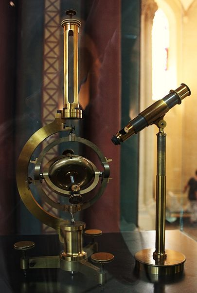 Photo showing a recreation of the first gyroscope.