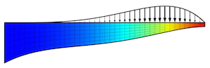 Optimized shape of a beam_featured