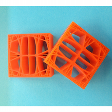 A photograph of 3D-printed samples.
