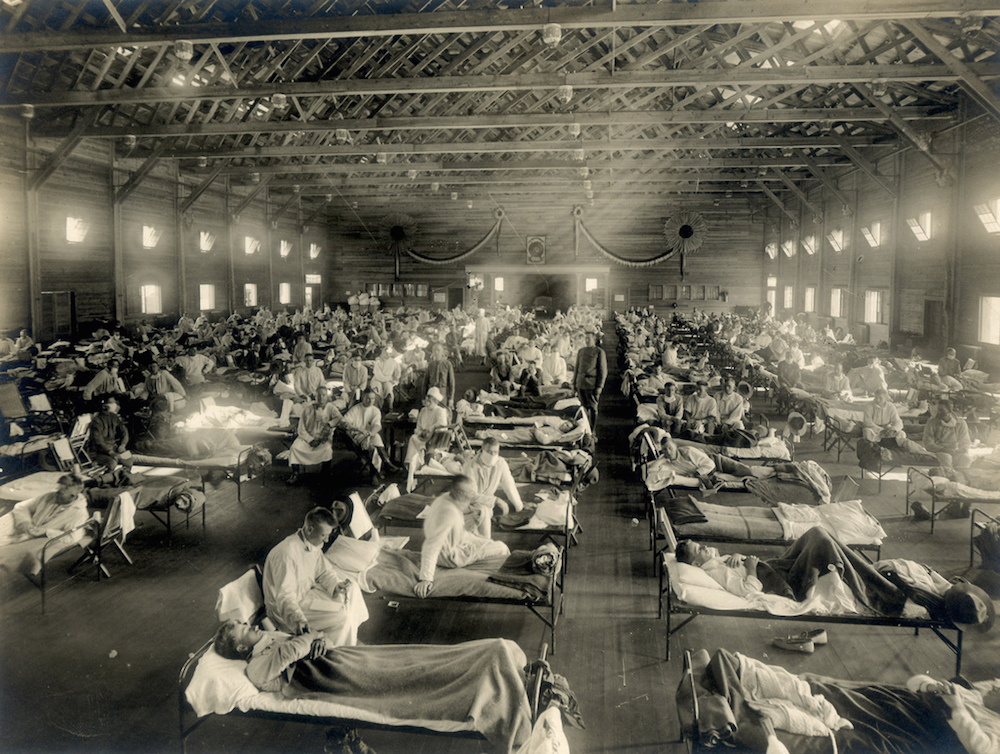 A hospital during an influenza epidemic.