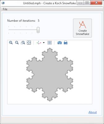 Koch snowflake simulation app featured