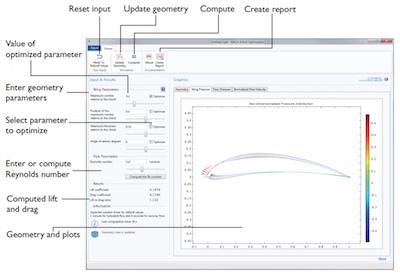 Optimize NACA Airfoil Designs with a Simulation App | COMSOL
