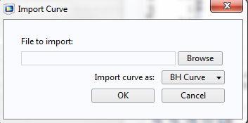 Screen capture showing the Import Curve dialog box.
