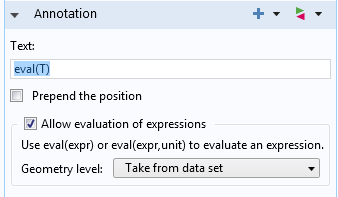 An image showing the Allow evaluation of expressions check box.