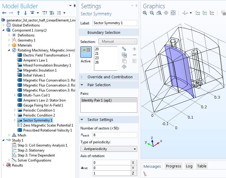 Antiperiodicity condition settings Руководство по моделированию вращающихся электрических устройств в 3D
