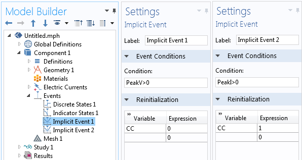 The Implicit Events feature in the Events interface.