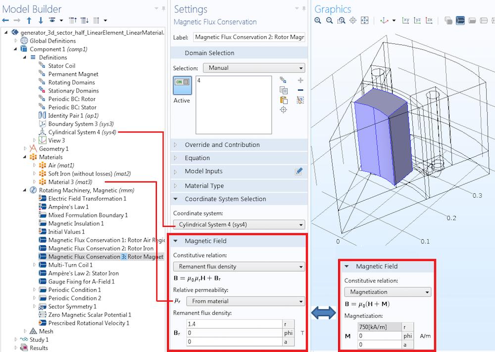 Permanent magnet modeling Руководство по моделированию вращающихся электрических устройств в 3D
