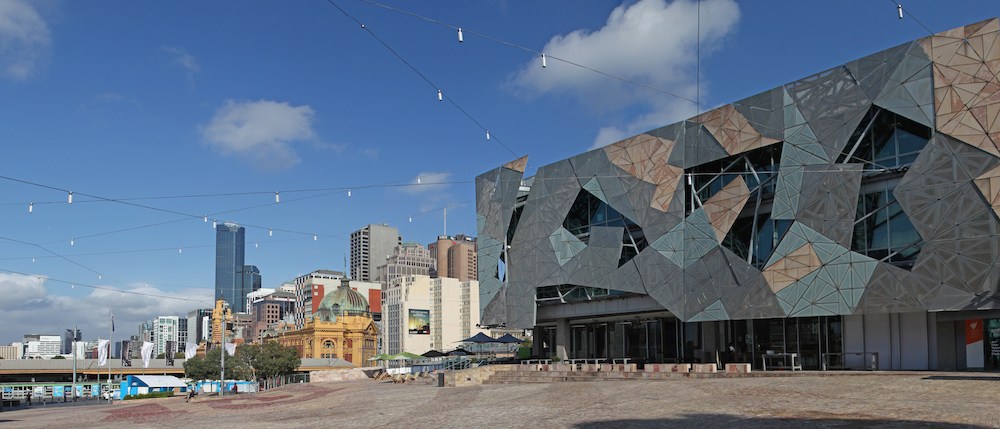 A photo of Federation Square.