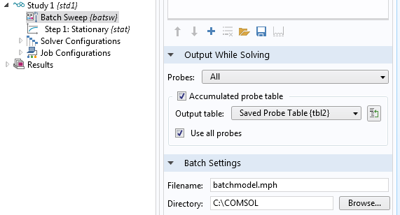 Using the Saved Probe table as an Accumulated Probe table.