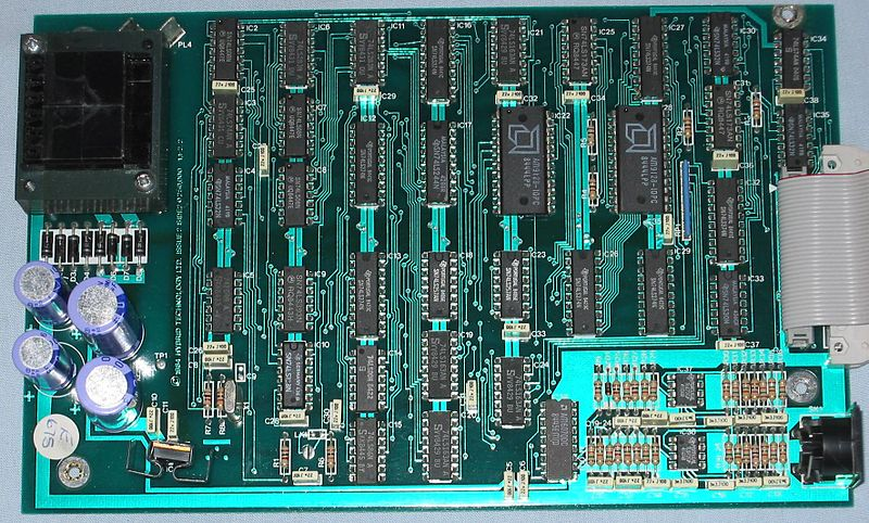 A photograph of a typical circuit board.