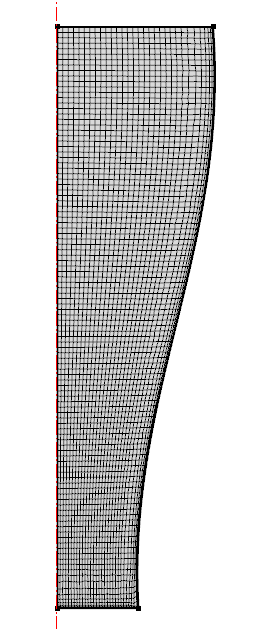 A fully mapped mesh for the glass.