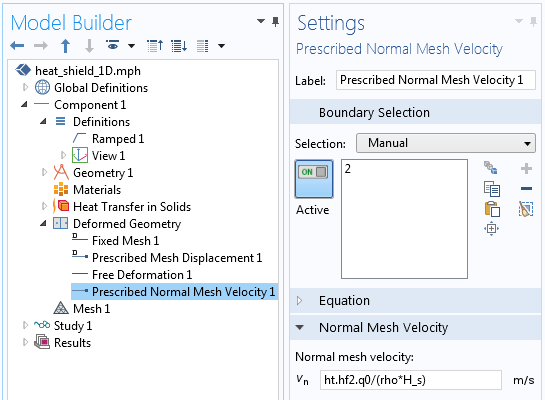 A screenshot showing how to implement material removal using the Deformed Geometry interface.