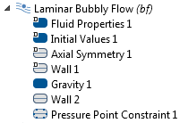 A screenshot depicting the physics interface setup.