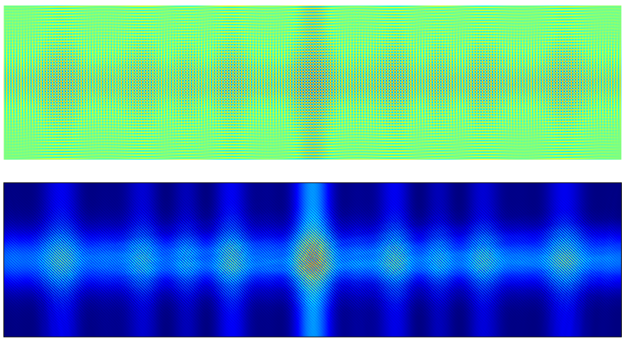 A graphic of the electric field amplitude and intensity for the page data recording.