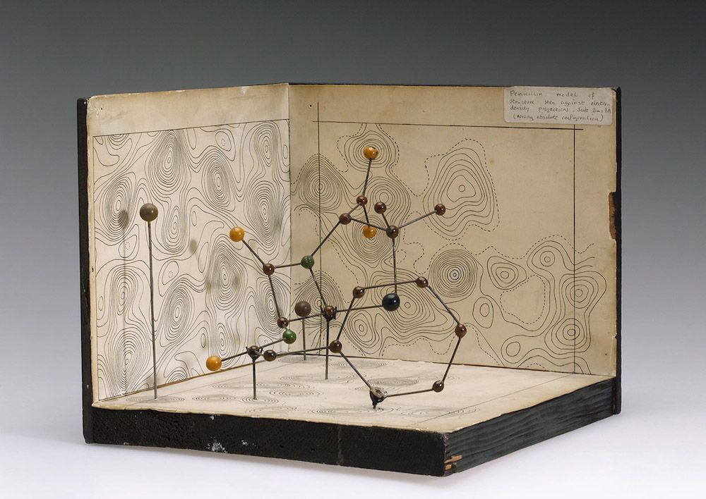 A physical model of the penicillin structure developed by Dorothy Crowfoot Hodgkin.