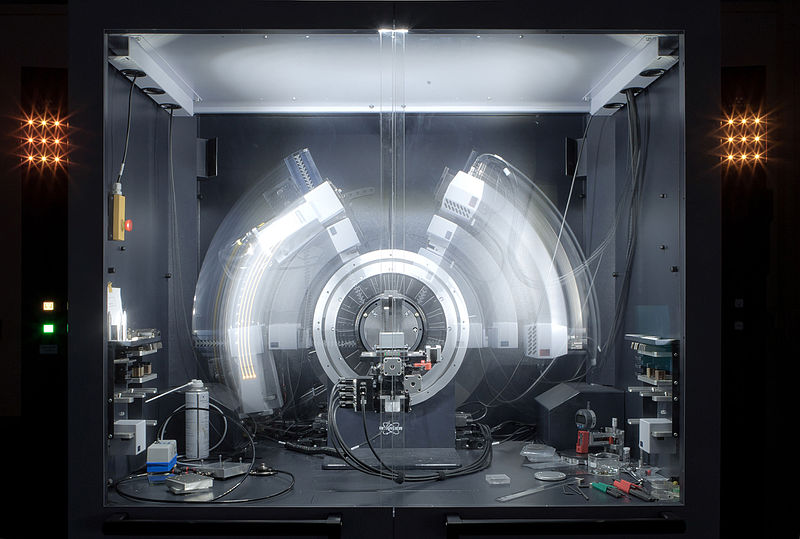 An image of a present-day X-ray crystallography machine.