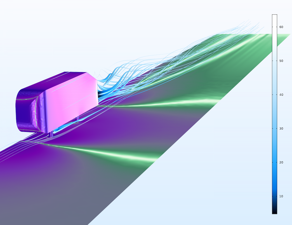 The Aurora Borealis color table option, a new visualization tool in COMSOL Multiphysics version 5.2a.