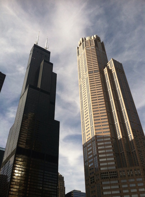 Energy efficiency is important in building design, including the skyscrapers shown here.