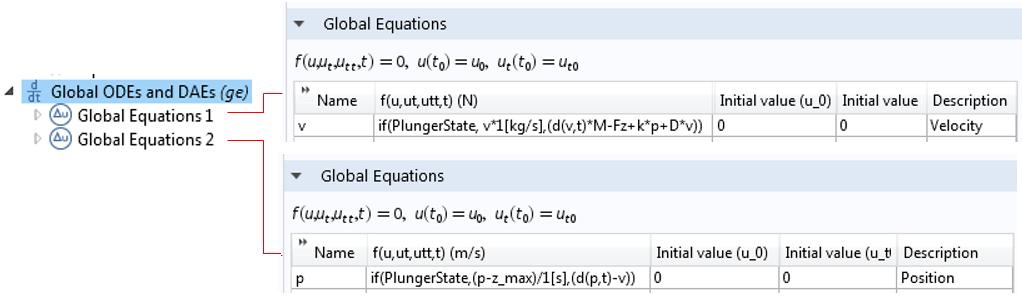 屏幕截图展示了全局常微分和微分代数方程接口。