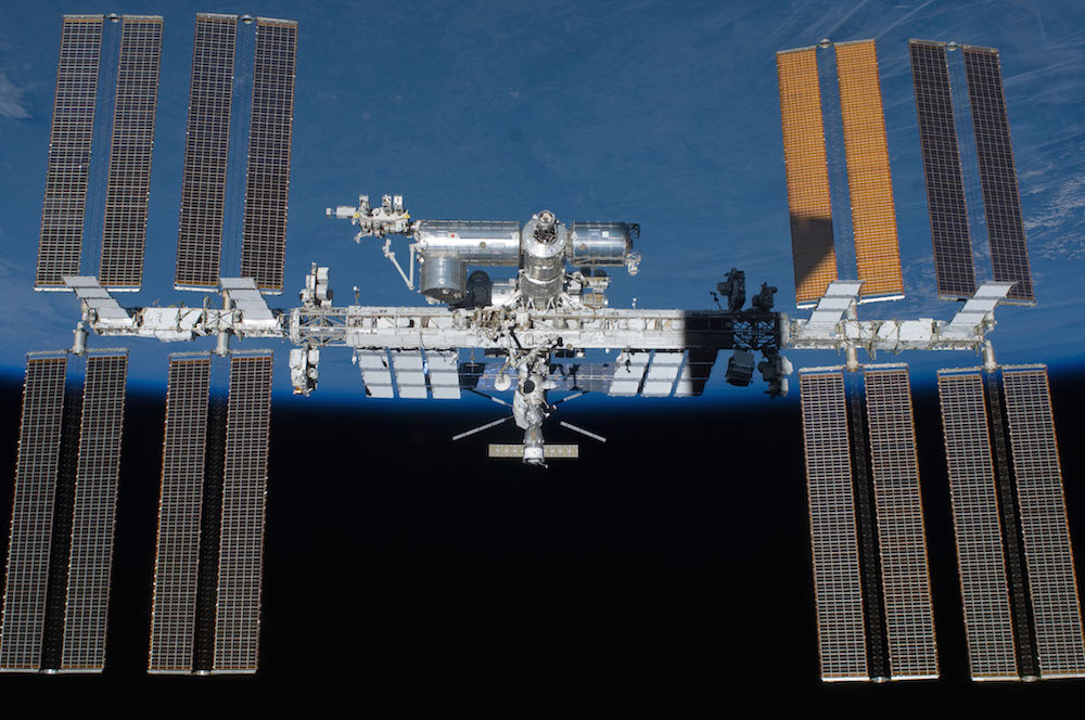 A photo of the International Space Station (ISS).