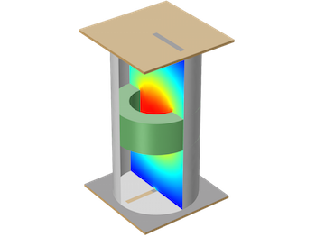 Evanescent Mode Cylindrical Cavity Filter tutorial model featured