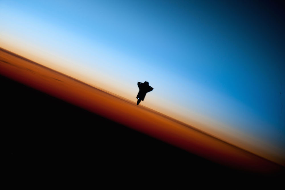 Photo showing sunlight hitting the Endeavor.