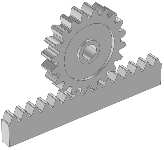 Rack and pinion example.