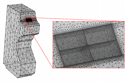 Mesh for contact fatigue model featured