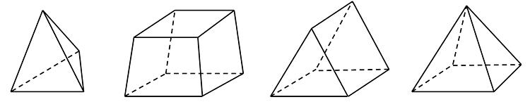 На рисунке показаны различные типы конечных элементов.