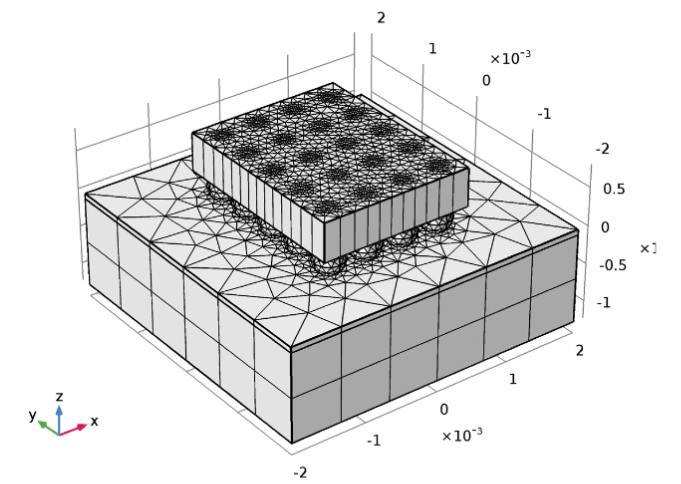 An image showing a revised mesh with fewer elements.