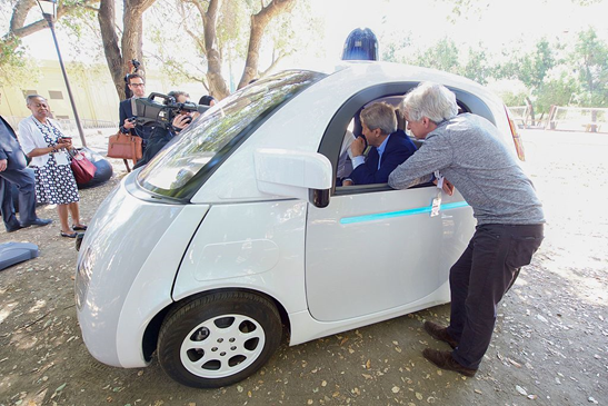 An image of a self-driving car.