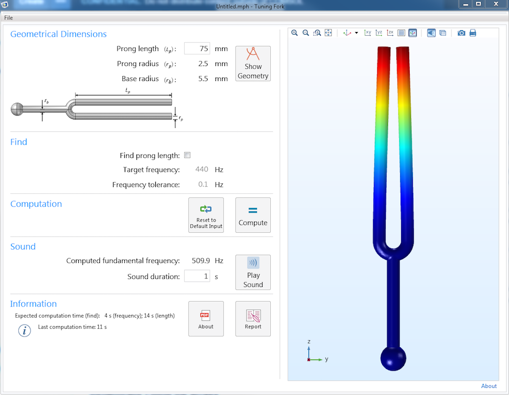 Image highlighting a tuning fork simulation app.