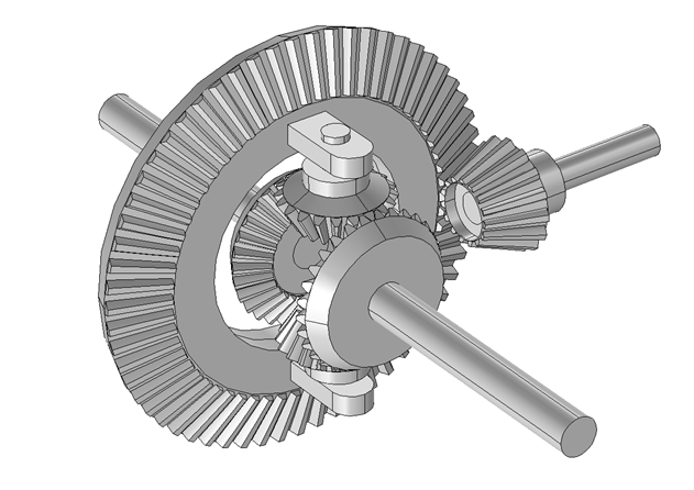 Image showing a differential gear mechanism.