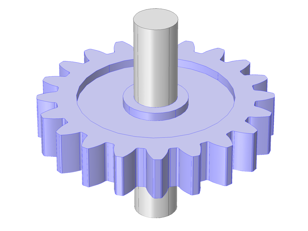 Geometry of a spur gear where the shaft is not highlighted.