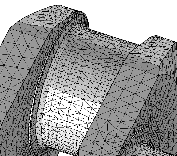 Crankshaft mesh in NASTRAN® file format.