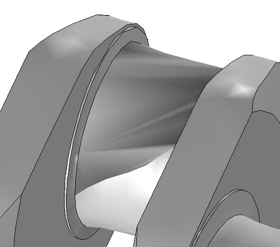 Созданная геометрия в COMSOL при настройках по умолчанию.