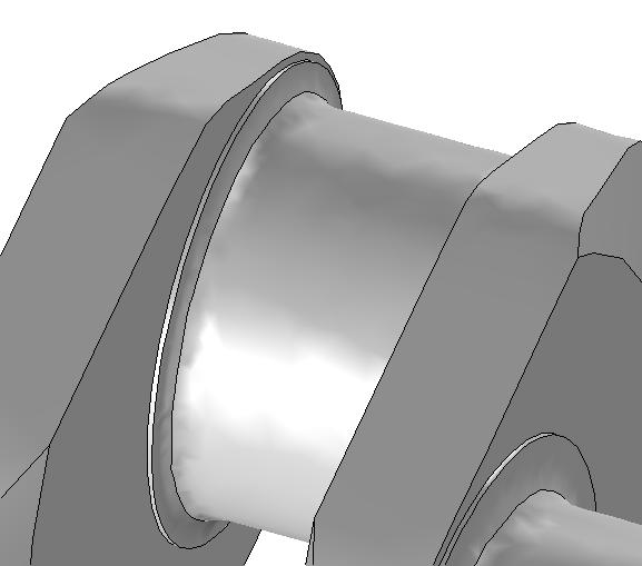 Геометрия, построенная с уменьшенными Relative simplification factor и Defect removal factor.