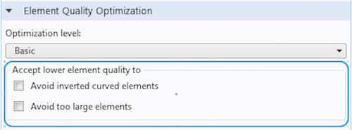 accept lower element quality Улучшенные возможности построения сетки на основе тетраэдральных элементов