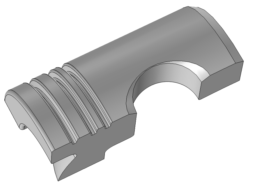 Schematic illustrating a piston geometry.