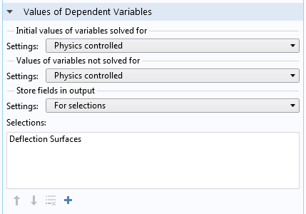Illustration displaying the Values of Dependent Variables section.