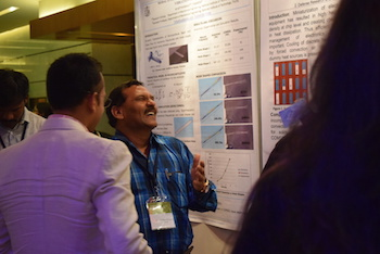 At the COMSOL Conference 2016 Bangalore Poster Session