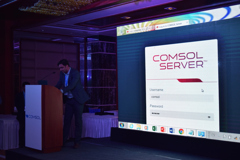 Pawan Soami demonstrates COMSOL Server™.