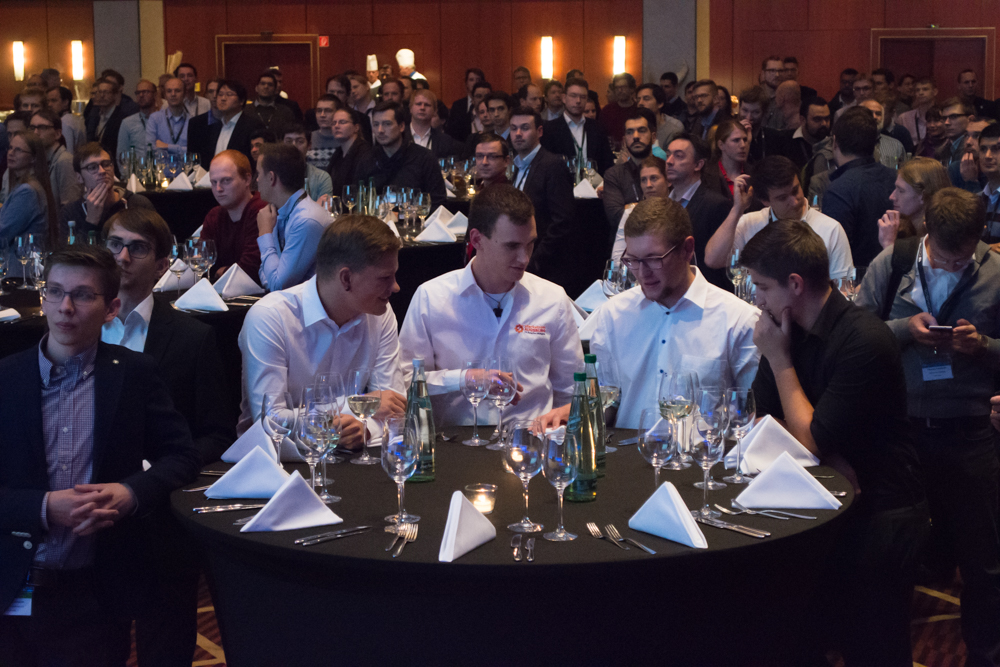 A scene from the gala dinner
