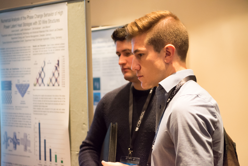 Attendees presented over 100 posters during the poster session