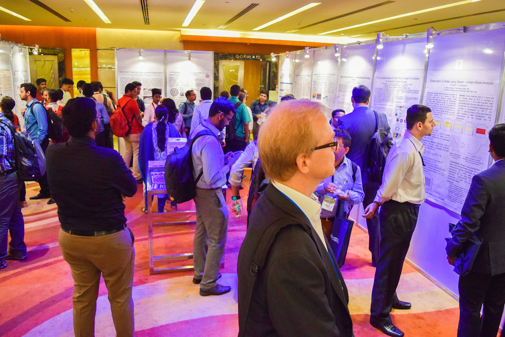 Image showing the poster session at the COMSOL Conference 2016 Bangalore.