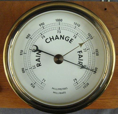 A barometer measuring absolute pressure.