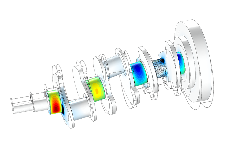 A model created with the Rotordynamics Module from COMSOL.