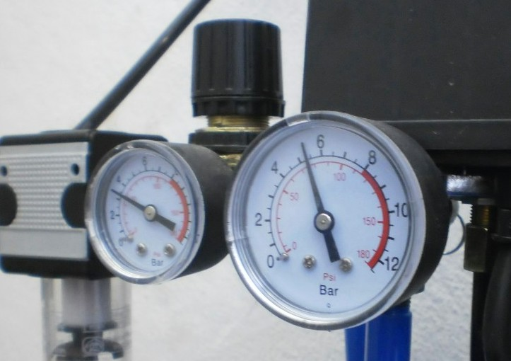 A manometer measuring relative pressure.