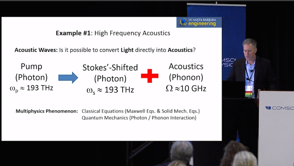 A photograph from the keynote video on solving transport process problems with simulation.