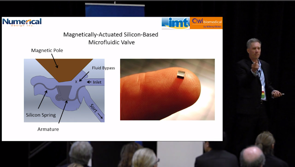A snapshot of Carl Meinhart's keynote video from the COMSOL Conference 2016 Boston.